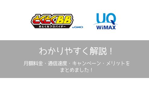 【レビュー】GMO WiMAX・とくとくBBにするメリットとは?・初期費用・月額料金・上下速度・おすすめプランをご紹介!