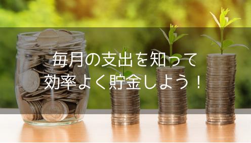 【簡単家計簿】効率よく貯金をするために毎月の支出を知る・管理する方法まとめ【支出の分類】