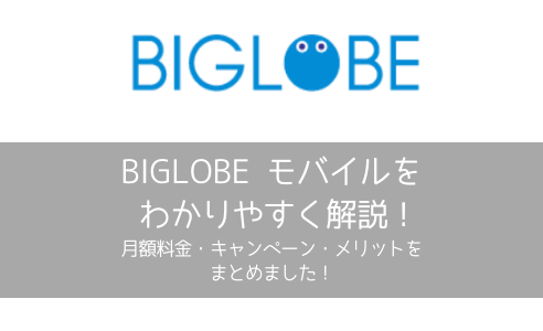 【格安sim】BIGLOBEモバイルに乗り換えるメリット・デメリットまとめ【快適な通信】