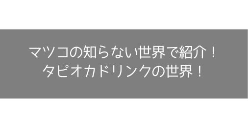 【マツコの知らない世界】タピオカドリンクの世界!で紹介されたおすすめのタピオカドリンクまとめ