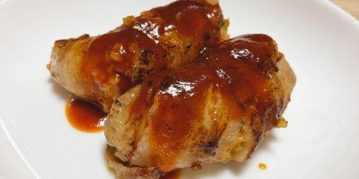 【超簡単】豚バラキムチーズ肉巻きおにぎりのレシピ